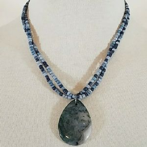 Jewelry - Moss agate beaded necklace